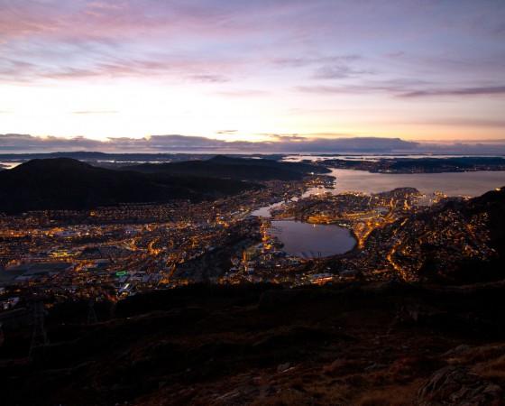 Bergen en hiver
