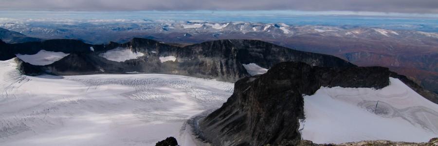 Galdhøpiggen, en haut de la Norvège